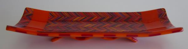 flame stitch on stripes channel plate