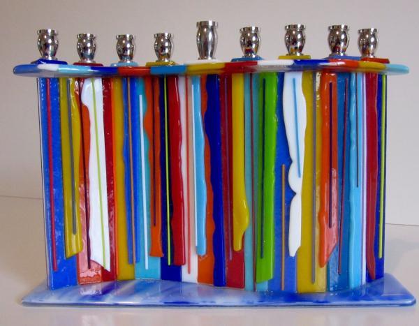 candle drip menorah
